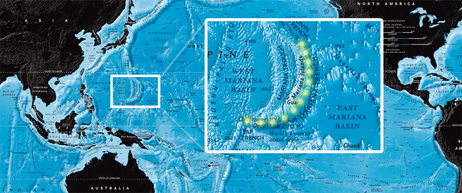 Image: Map of the Mariana Trench