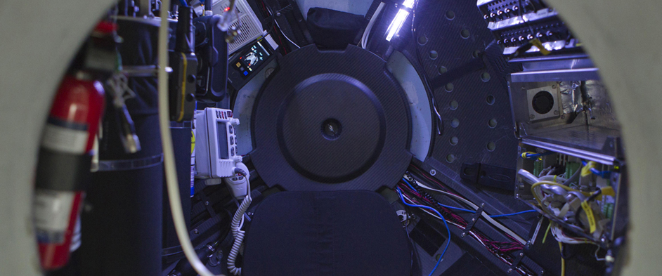 Photo: Interior of the pressure sphere simulator