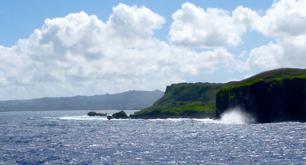 Photograph by Dr. Joe MacInnis Entering the Apra harbor on the island Guam