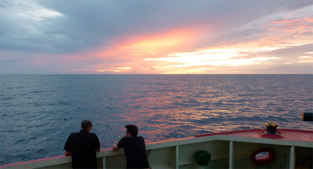 Photo: Departing the Bismarck Sea