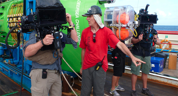 Photo: DEEPSEA CHALLENGE film crew