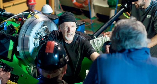 Image: James Cameron emerges from sub